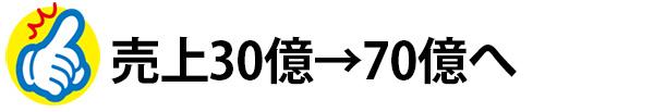 売上30億→70億へ